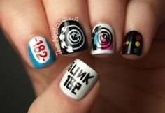 Blink 182 Nail Art!!  These were the best!