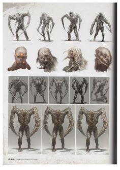 #concept #monster #deadspace #gamedev #conceptart