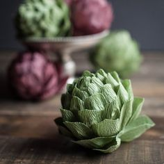 You all know my love for paper flowers and the delicious little artichoke is actually an edible flower, Make your own with this tutorial.