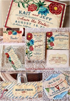 Colorful Watercolor Wedding Stationery Suite - Sunshine and Ravioli
