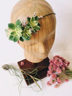 Succulent Bridal Halo // Succulent Crown // Flower Crown by Eucca