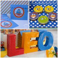 Festa da Galinha pintadinha com itens da papelaria produzido pela So Cute Design.