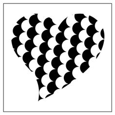 Reusable 7MIL Laser-cut Stencil Animal Print Hearts: Fish Scale by PearlDesignStudio on Etsy
