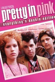 Pretty in Pink - Working-class misfit Andie thinks her dreams have come true when rich, popular Blane asks her to prom in this coming-of-age classic from John Hughes. Stars Molly Ringwald, Jon Cryer, James Spader and Andrew McCarthy. Pretty In Pink, Film Music Books, Music Tv, Pink Full Movie, Movies Showing, Movies And Tv Shows, John Cryer, Vintage Cartoons, Andrew Mccarthy
