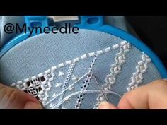 Hardanger embroidery,pulled thread embroidery. - YouTube