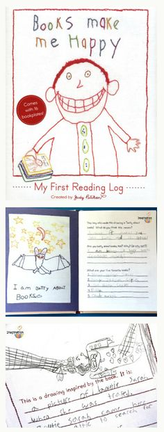 Books Make Me Happy -- a fun reading log for young readers!