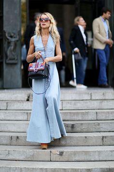 So tragen die Streetstyle-Stars die neuen Plateau-Sandalen. Hier: der Hippie-Look.