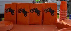 Motocross dirt bike favor birthday bags More
