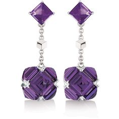Amethyst Very Pc Earrings, Petite by Paolo Costagli New York ($2,810) ❤ liked on Polyvore featuring jewelry, earrings, amethyst earrings, amethyst drop earrings, butterfly earrings, earring jewelry and monarch butterfly earrings