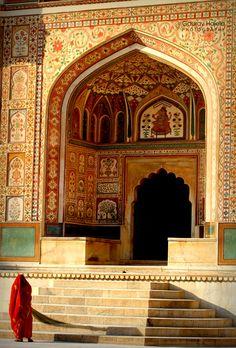 Ganesh Pol or the Ganesh Gate, named after the Hindu god Lord Ganesh at the first courtyard of Amber Palace, #Jaipur #rajasthan