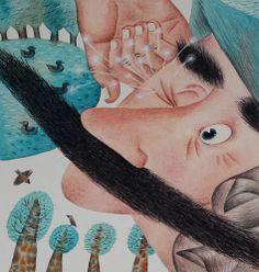 "Svetlana Akateva illustration for ""Baron Munchausen"". Baron, Illustrators, Cow, Disney Characters, Fictional Characters, Watercolor, Disney Princess, Pen And Wash, Watercolor Painting"