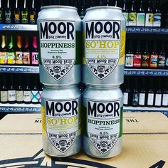 New Beers. So'Hop & Hoppiness in cans from @drinkmoorbeer in stock now