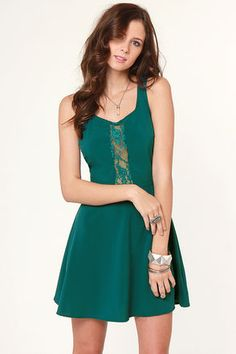 LULU*S | Name of the Game Teal Dress