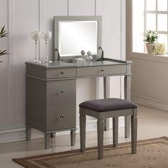 House of Hampton Alexanderia Vanity Set with Mirror & Reviews | Wayfair