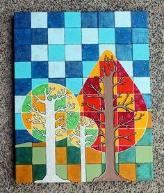Fall Trees art lesson