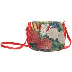 Rousseau Bouquet of Flowers Floral Still Life Classic Saddle Bag/Large (Model 1648)