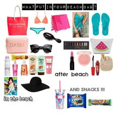 """what put in your beach bag ?"" by lynamiss on Polyvore"