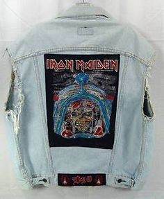 Levi's Jacket Vest Iron Maiden Metallica DIO Patches 80s Heavy Metal Rocker Visit my Ebay Store for more great items! - http://stores.ebay.com/sandra-lees-shoppe