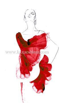 Kazue Shima fashion illustration