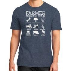 FARMER IM MORE THAN YOU THINK District T-Shirt (on man)
