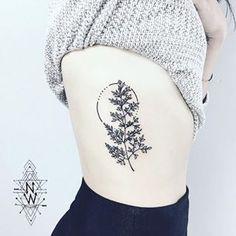Instagram photo by nothingwild - Fern tattoo I did on Makenzie's ribs yesterday…