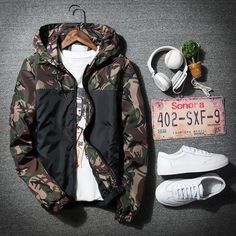 Running Sports & Entertainment 2018 Autumn Men Camo Printed Sports Running Jacket Camouflage Mens Hip Hop Slim Fit Male Bomber Jacket Hooded Coat Plus Size 5xl