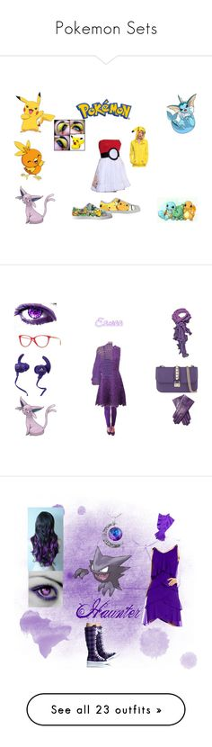 """""""Pokemon Sets"""" by samantha-and-her-mpd-friends ❤ liked on Polyvore featuring York Wallcoverings, Pokemon, pokemonfashion, Oscar de la Renta, Maison Fabre, Versace, Monster, Valentino, girl and eevee"""