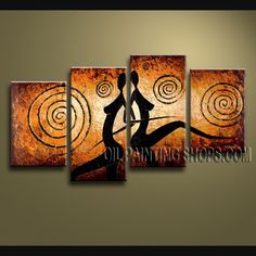 Amazing Contemporary Wall Art Oil Painting On Canvas For Bed Room Figure. This 4 panels canvas wall art is hand painted by V.Chua, instock - $128. To see more, visit OilPaintingShops.com