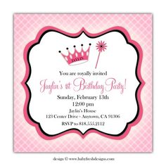 Princess Birthday Invites