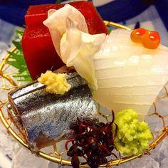 Sashimi goodness in Hakone Asian Recipes, Healthy Recipes, Sushi Love, Hakone, Tasty, Yummy Food, Nihon, Sashimi, Food Plating