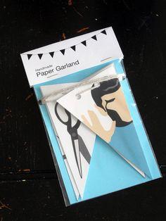 Rock Paper Scissors Lizard Spock Paper Garland by RitaVanTassel, $14.00