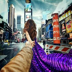 60. Follow Me To the Times Square. 27 June 2013 (the 60th pic of the photo series by Russian Photographer, Murad Osmann)