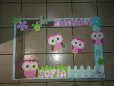Resultado de imagen para centro de mesa buhos Baby Girl Owl, Baby Shawer, Baby Owls, Photo Zone, Slumber Parties, 4th Birthday, Crafty, Frame, Creative