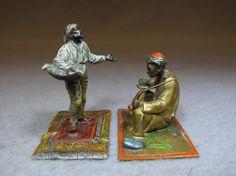 Vienna bronze orientalist pair of sculptures : Lot 89