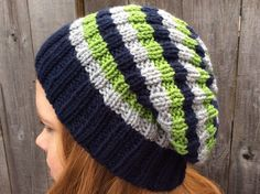 Knitted Seahawks Hat