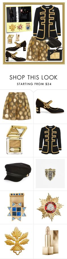"""""""NYFW"""" by interesting-times ❤ liked on Polyvore featuring Anna Sammarone, Dolce&Gabbana, Post-It, Estée Lauder, Givenchy, River Island, Butler & Wilson, Burberry and Tom Ford"""