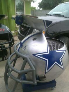 Cool Bbq Pit Dallas Cowboys Smoker Cooking Wood By