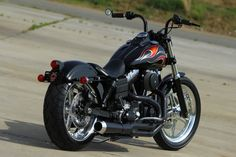 """Kind of a bobber I guess.wanted the """"Look"""" to be like a restored muscle car.something you'd take to a local cruise in.man this bike Harley Dyna, Harley Bobber, Harley Davidson Street, Harley Davidson Motorcycles, Harley Street Bob, Dyna Super Glide, Custom Bobber, Custom Bikes, Moto Bike"""