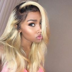 Achieve This Same Look With Our #RussianBlonde Hair In Stock Frontals & Closures #foreignstrandz by foreignstrandz