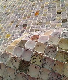 Beyond Surrender (Paper weaving wall grid) by Jennifer Bowes