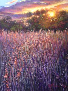 Velvet Grasses - Pastel by kathdunneartworks.com