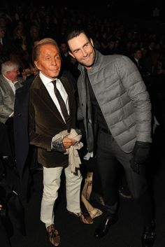 Valentino Garavani and Adam Levine [Photo by Steve Eichner]