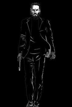 John Wick ready to kill John Wick Hd, John Wick Movie, Best Movie Posters, Movie Poster Art, Baba Yaga John Wick, Keano Reeves, Keanu Reeves John Wick, Persona 5, Bruce Lee