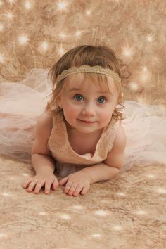 Lace Headband Baby Girl Headband Gold Baby by maddieandbean