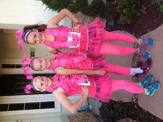 Fun dressing up for race for the cure.