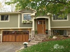 Exterior Home Makeover: Split Level Home with Craftsman Details