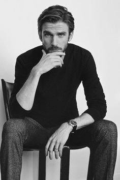 black and white and dan stevens-bild