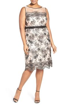 Sequin Embroidered Sheath Dress (Plus Size) by BRIANNA