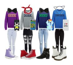"""""""Nerd"""" by moaoifekelly ❤ liked on Polyvore featuring Glamorous, H&M, Topshop, Converse, Dr. Martens, See by Chloé, Boohoo, Samsung, Retrò and Echo"""