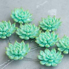 Succulents hair pins)